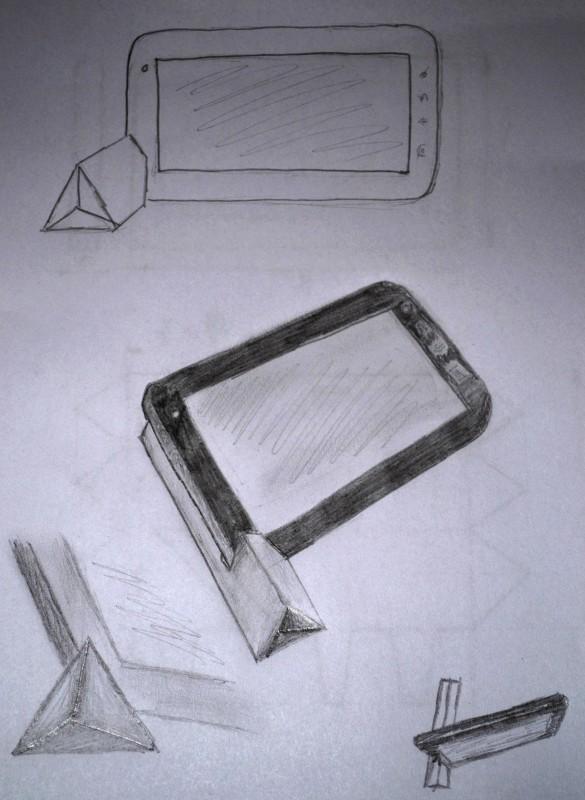 Az ötlet még csak rajz formájában
